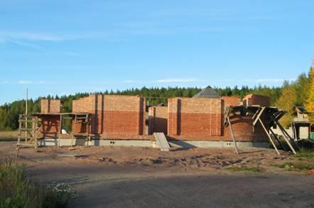 Строительство храма, 2006 год.